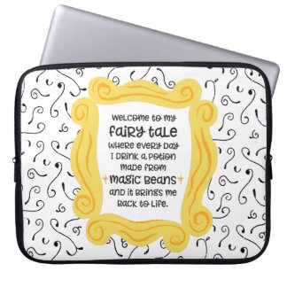 Funny coffee gift magic bean potion fairy tale computer sleeve