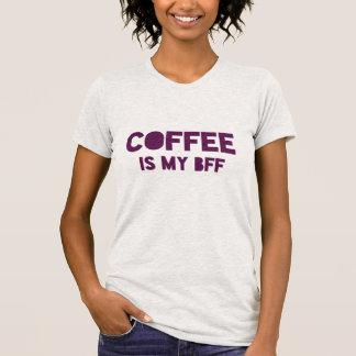 "Funny ""Coffee is my BFF"" purple joke statement T-Shirt"