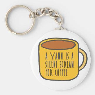 Funny coffee keychain