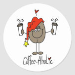 Funny Coffee Lover Gift Classic Round Sticker
