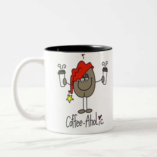 Funny Coffee Lover Gift Two-Tone Coffee Mug