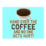 Funny Coffee Lover Postcards