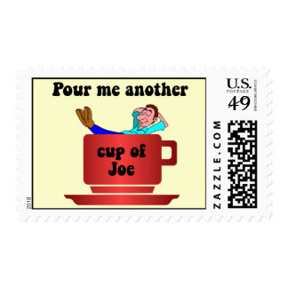 Funny coffee lover stamp