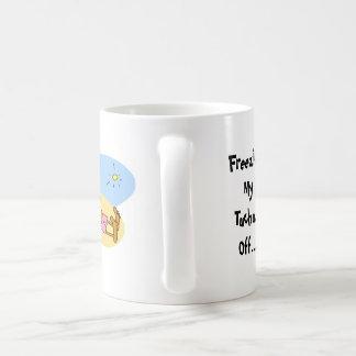 """FUNNY COFFEE MUG """"FREEZING YOUR TUCHUS OFF""""... BASIC WHITE MUG"""