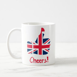 Funny Coffee Mug Gift - Cheers British Flag Thumb