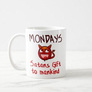 Funny Coffee Mug Gift - Mondays, Satans Gift