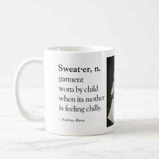 Funny Coffee Mug - Grumpy Baby in Sweater