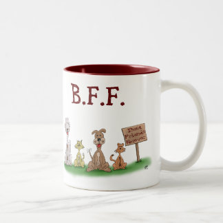 Funny Coffee Mugs: Best Friends Forever Two-Tone Coffee Mug