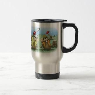 Funny Coffee Mugs Working Smarter