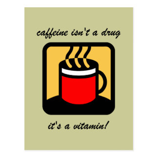 Funny coffee postcard
