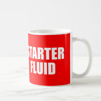 Funny Coffee Quote: Starter Fluid Coffee Mugs