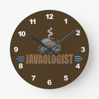 Funny Coffee Round Clock