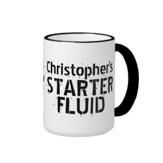 Funny Coffee Starter Fluid Personalized Name Ringer Mug