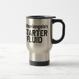 Funny Coffee Starter Fluid Personalized Name Travel Mug