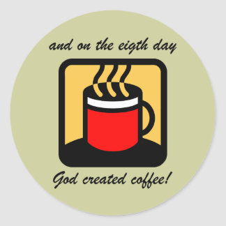 Funny coffee stickers