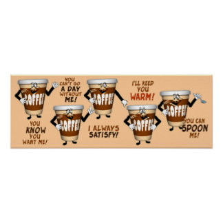 Funny Coffee Talk Posters