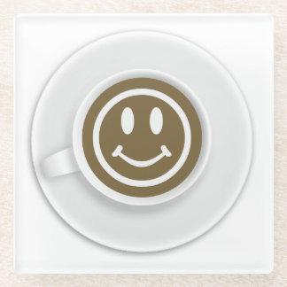 Funny Coffee Theme Glass Coaster