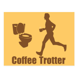 Funny Coffee Trotter Postcard
