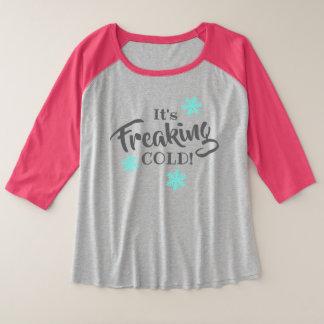 Funny Cold Weather Blues Plus Size Raglan T-Shirt