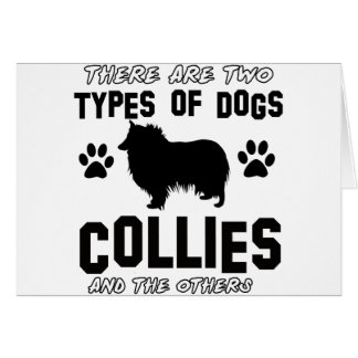 Funny colie designs greeting card