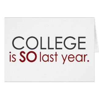 Funny College Grad Card