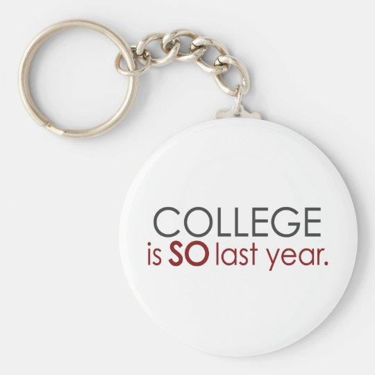 Funny College Grad Keychain