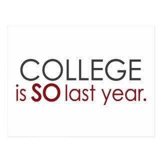Funny College Grad Postcard