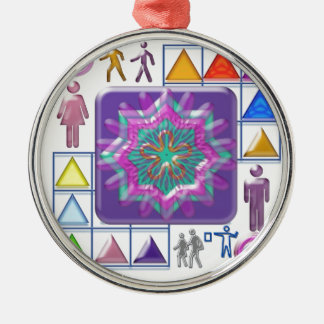 FUNNY Color Cartoons PURPLE Show :lowprice GIFTS Round Metal Christmas Ornament