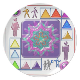FUNNY Color Cartoons PURPLE Show lowprice GIFTS Dinner Plates