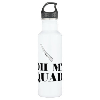 Funny Color Guard Oh My Quad! Rifle Water Bottle