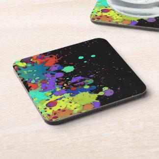 FUNNY COLOR SPLASH I + your backgr. & ideas Coaster