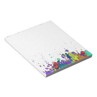 FUNNY COLOR SPLASH I + your backgr. & ideas Memo Notepads