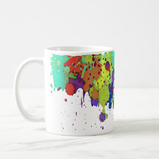 FUNNY COLOR SPLASH I + your ideas Coffee Mug