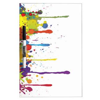 FUNNY COLOR SPLASH II + your backgr. & ideas Dry Erase Board