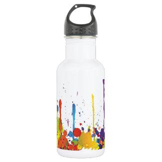 FUNNY COLOR SPLASH II + your backgr. & ideas Water Bottle