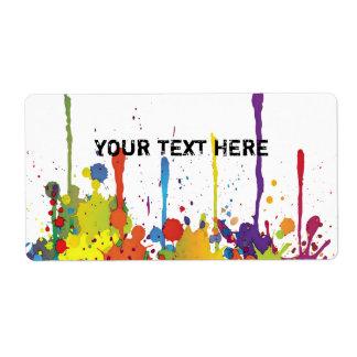FUNNY COLOR SPLASH II + your backgr. & text Label