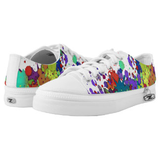 FUNNY COLOR SPLASHes I + your backgr. & ideas Printed Shoes