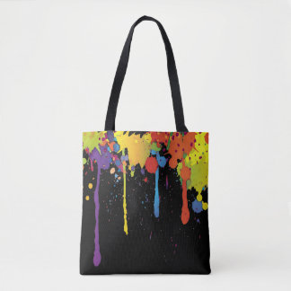 FUNNY COLOR SPLASHes II + your backgr. & ideas Tote Bag