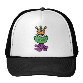 FUNNY COLORFUL ALIEN INSECTS CHARACTERS CARTOONS TRUCKER HATS