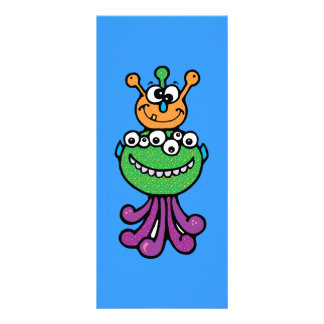 FUNNY COLORFUL ALIEN INSECTS CHARACTERS CARTOONS O RACK CARDS