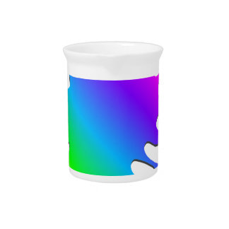 Funny Colorful Art Rainbow Paint Splatter Drink Pitcher