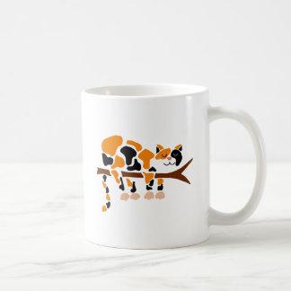 Funny Colorful Calico Cat Art Coffee Mug