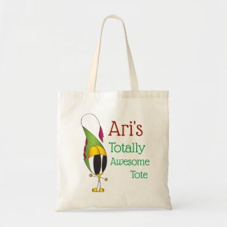 Funny, Colorful, Cartoon Character | Add Your Name Tote Bag