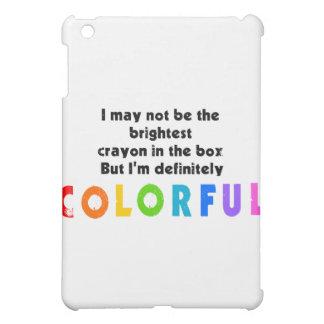 Funny Colorful Crayon design iPad Mini Covers