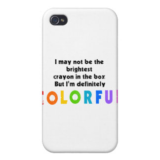 Funny Colorful Crayon design iPhone 4/4S Case