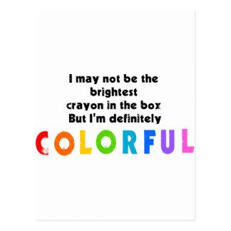 Funny Colorful Crayon design Postcard