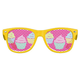 Funny colorful cupcake baking party shades