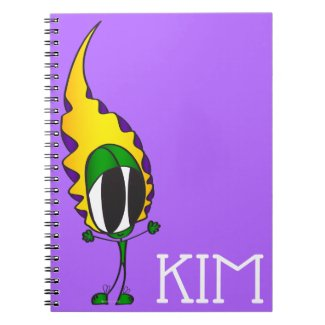 Funny, Colorful, Cute, Cartoon | Add Your Name Notebook