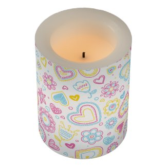 Funny Colorful Love Flameless Candle