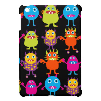 Funny Colorful Monster Party Creatures Characters iPad Mini Cases